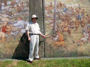 Charles Humphreys (Ex. Dir.Mason Co. Development)  painted into the town's mural.