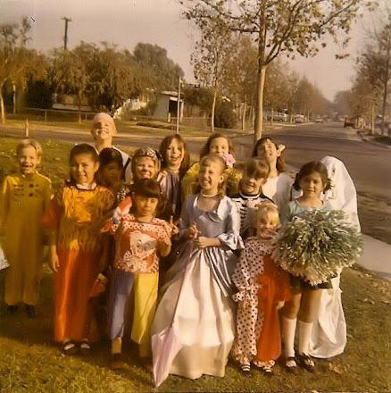 Halloween on Barrydale Street, 1970's
