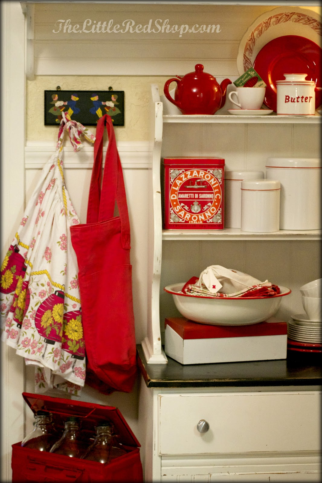 The Little Red Shop Vintage Farmhouse Kitchen ~ Before & After