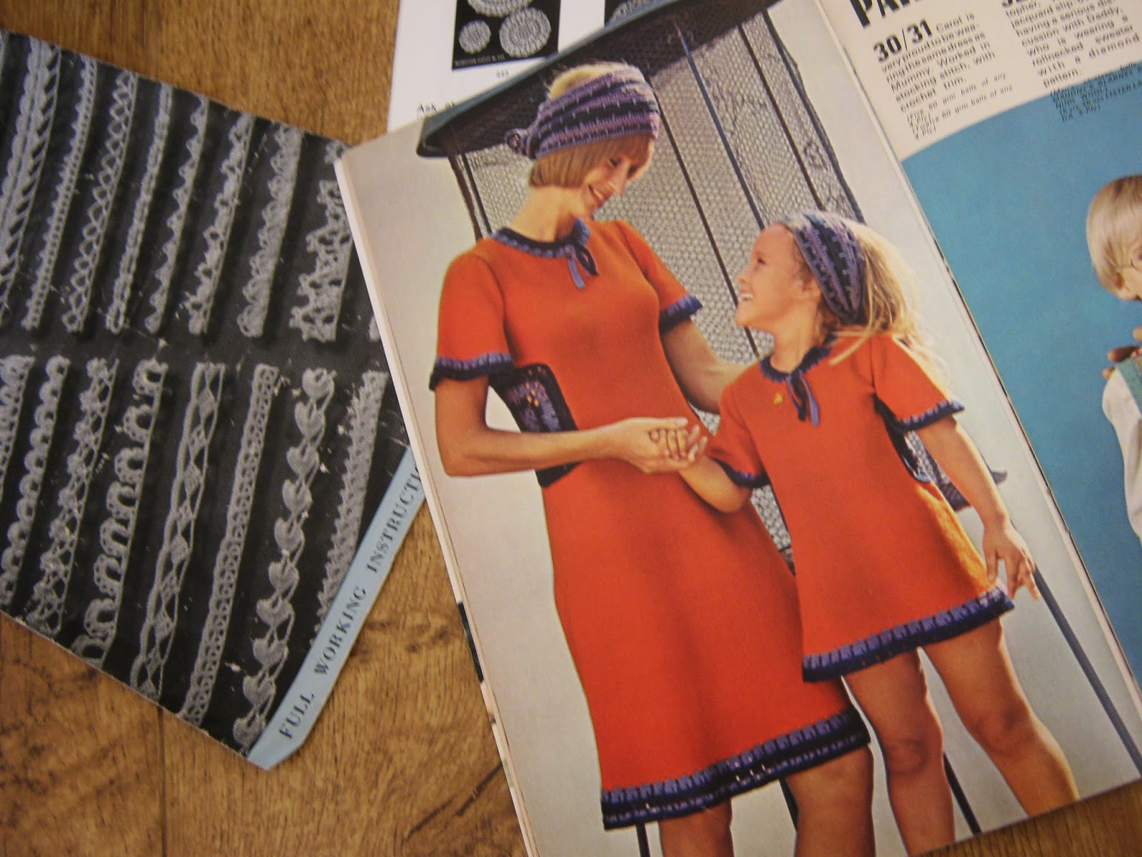 Vintage Knitting Crochet Pattern Bad Orange Dress