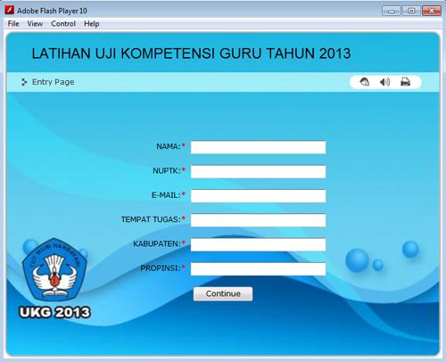 Aplikasi soal latihan Uji Kompetesi Guru II