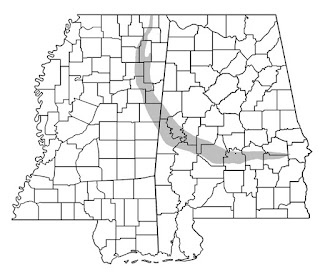 Map of Mississippi Black Belt Hickory Ridge Studio