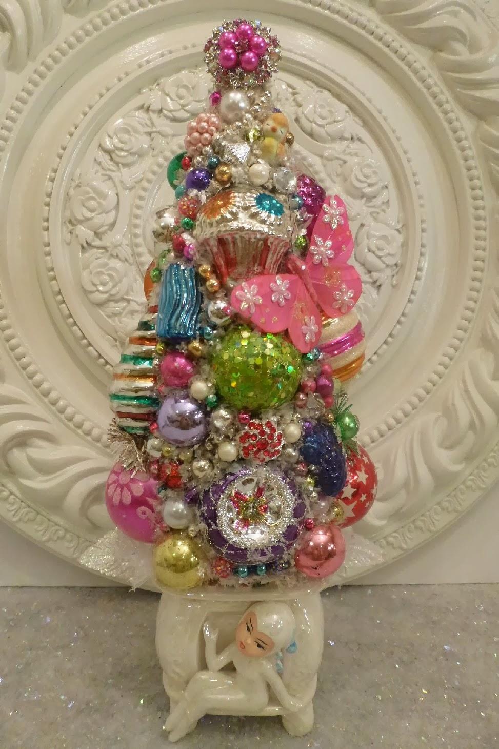 Ms bingles vintage christmas: more bottle brush trees....