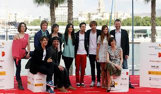 Imagen del elenco de 'Casting' en el Festival de Cine de Málaga