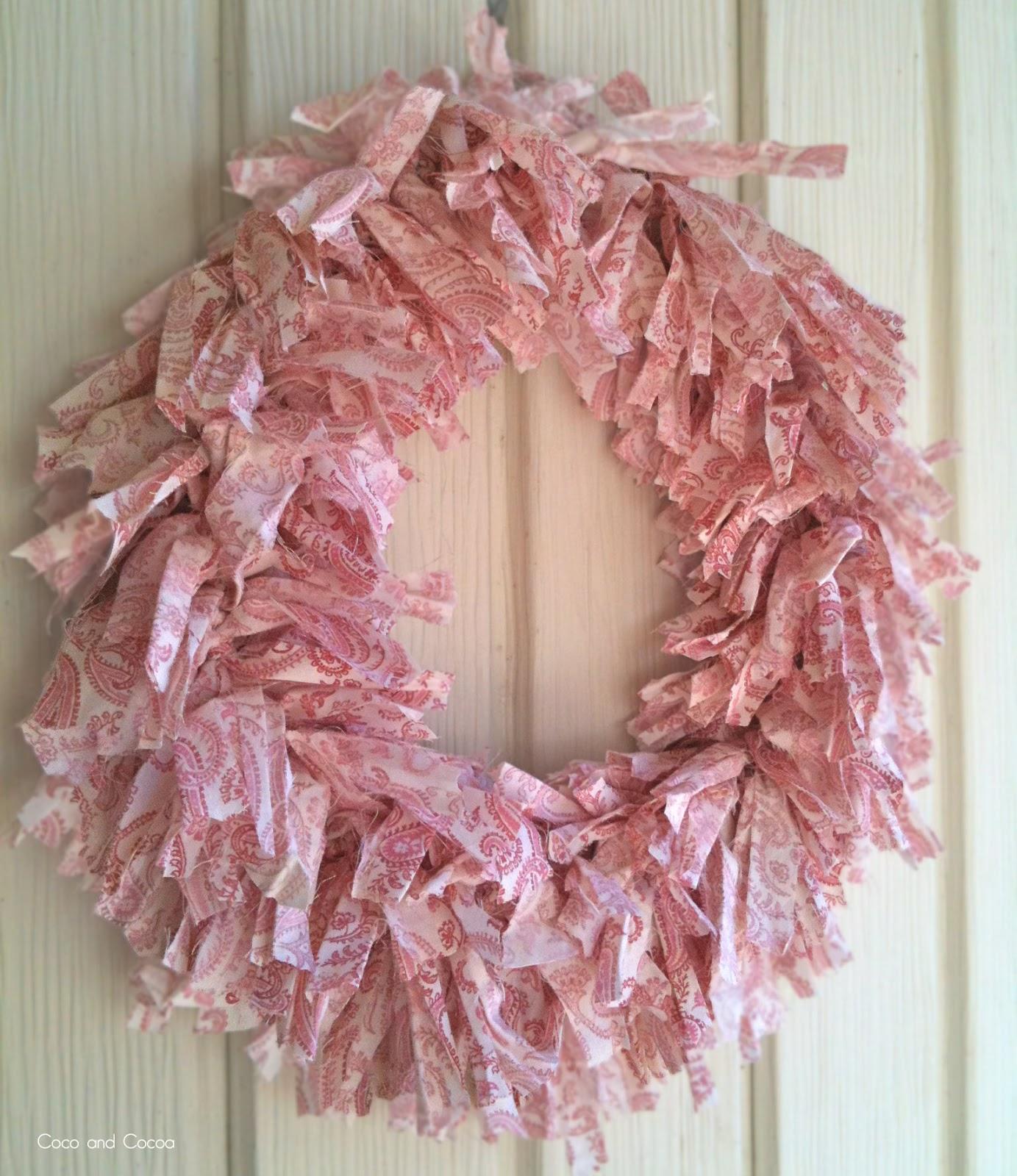 shabby chic valentine 39 s day wreath. Black Bedroom Furniture Sets. Home Design Ideas