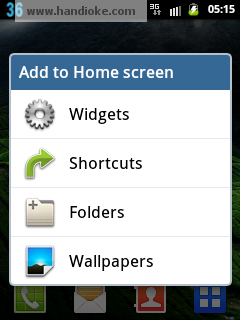 Tekan dan Tahan Home Screen - pilih widget