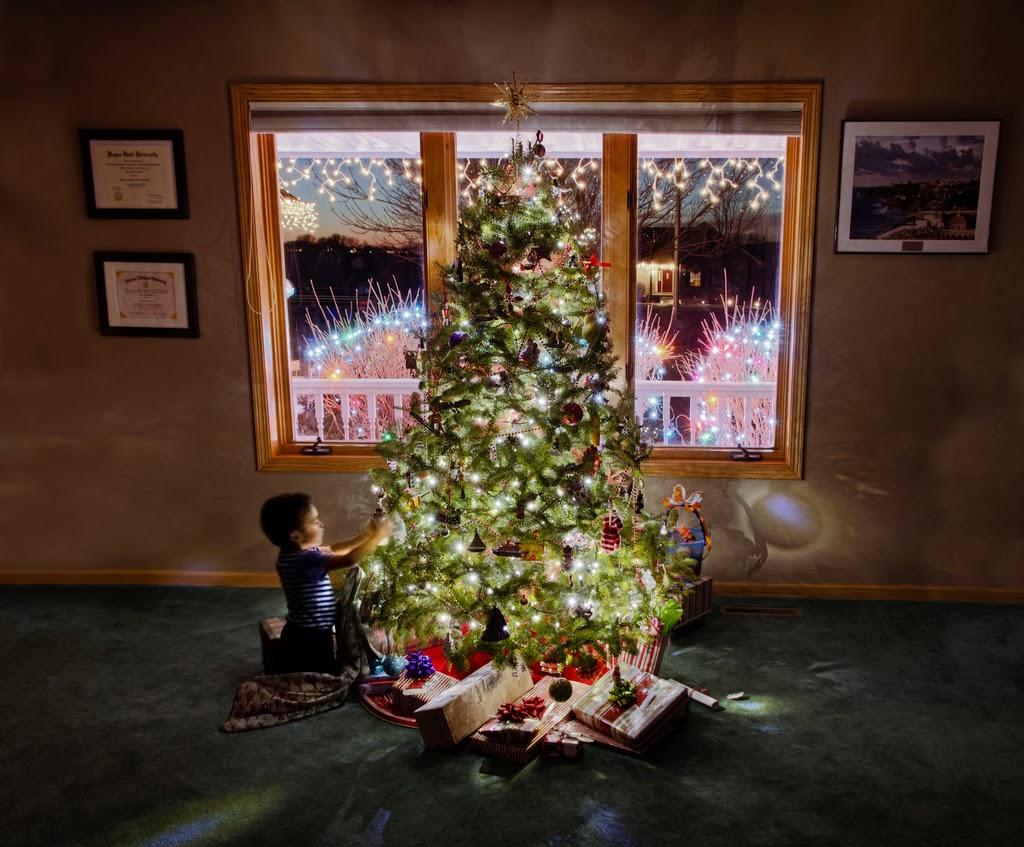 Christmas tree lighting tips - Tips For Photographing Christmas Trees