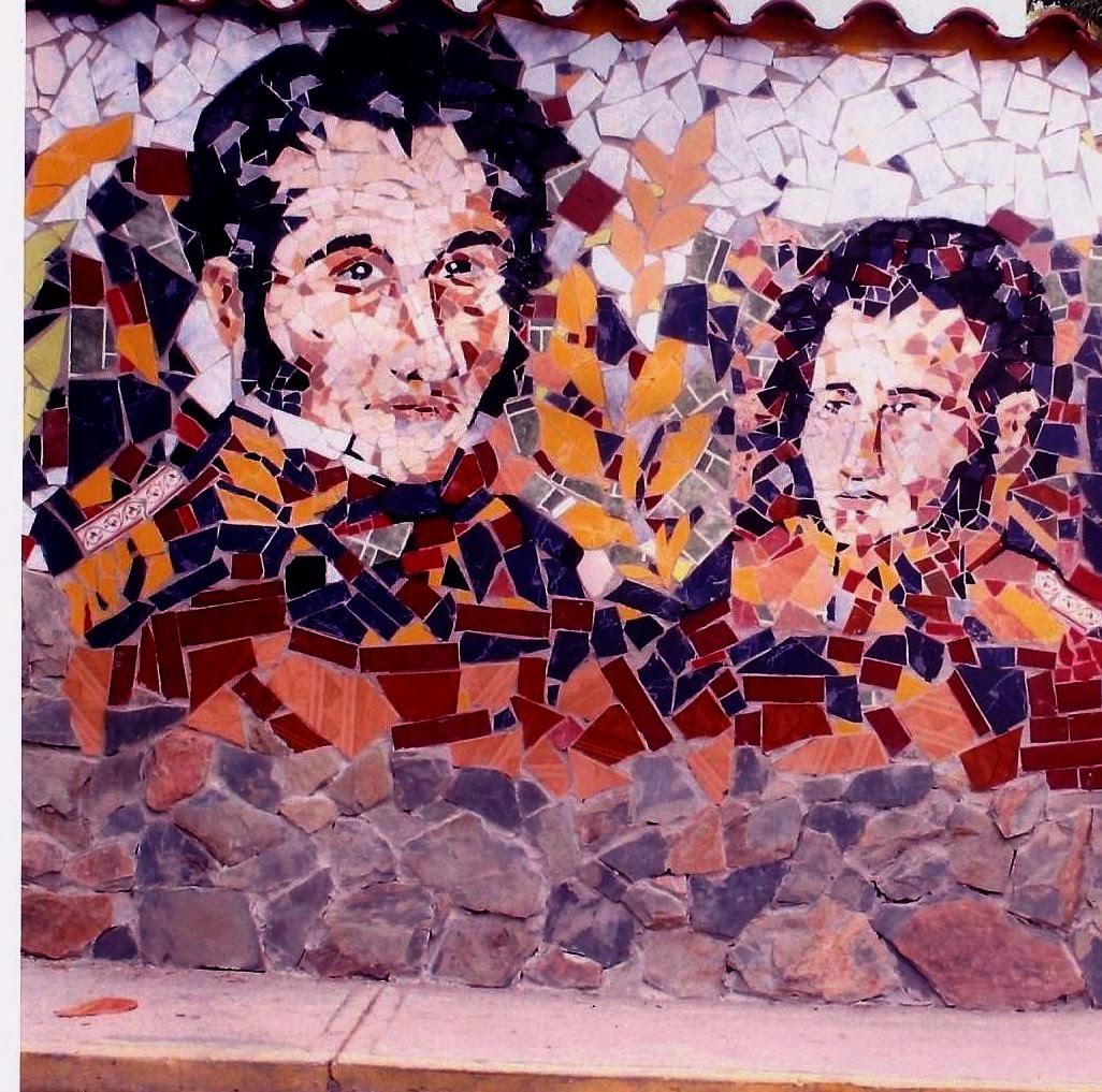 Bolivar y Sucre - Mural Mosaico