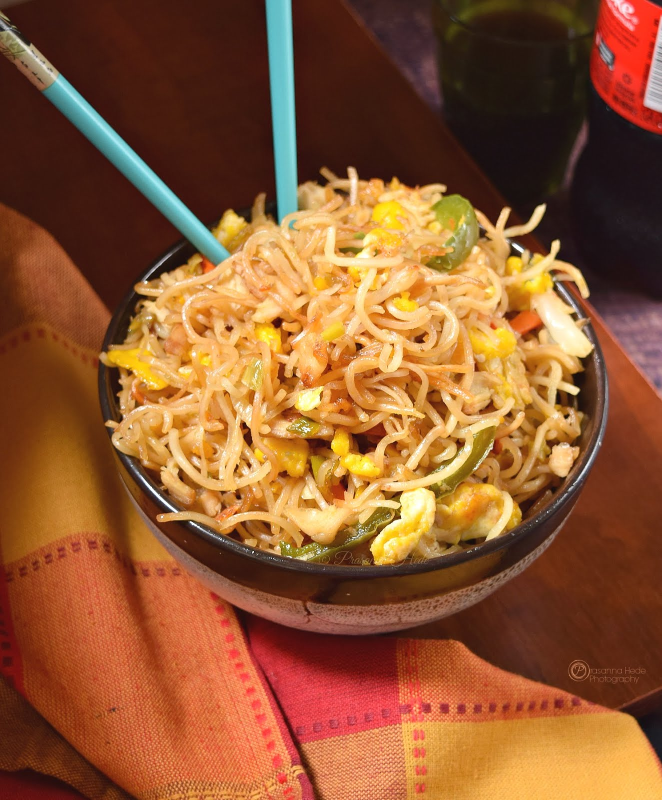 Crispy Pan Fried Chicken Egg Noodles Chowmein
