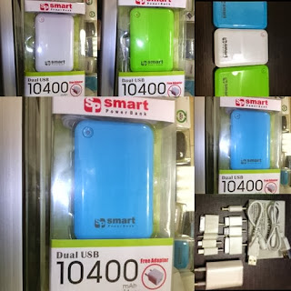 Power Bank Murah Smart 10400 mAh