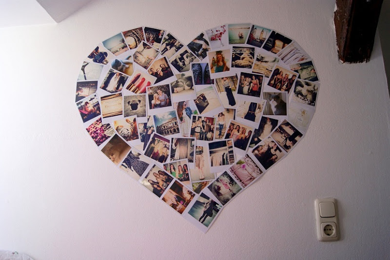 Heart Shaped Photo Collage All I Want Is Everything