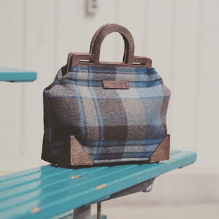 Custom Framed Tartan Handbag
