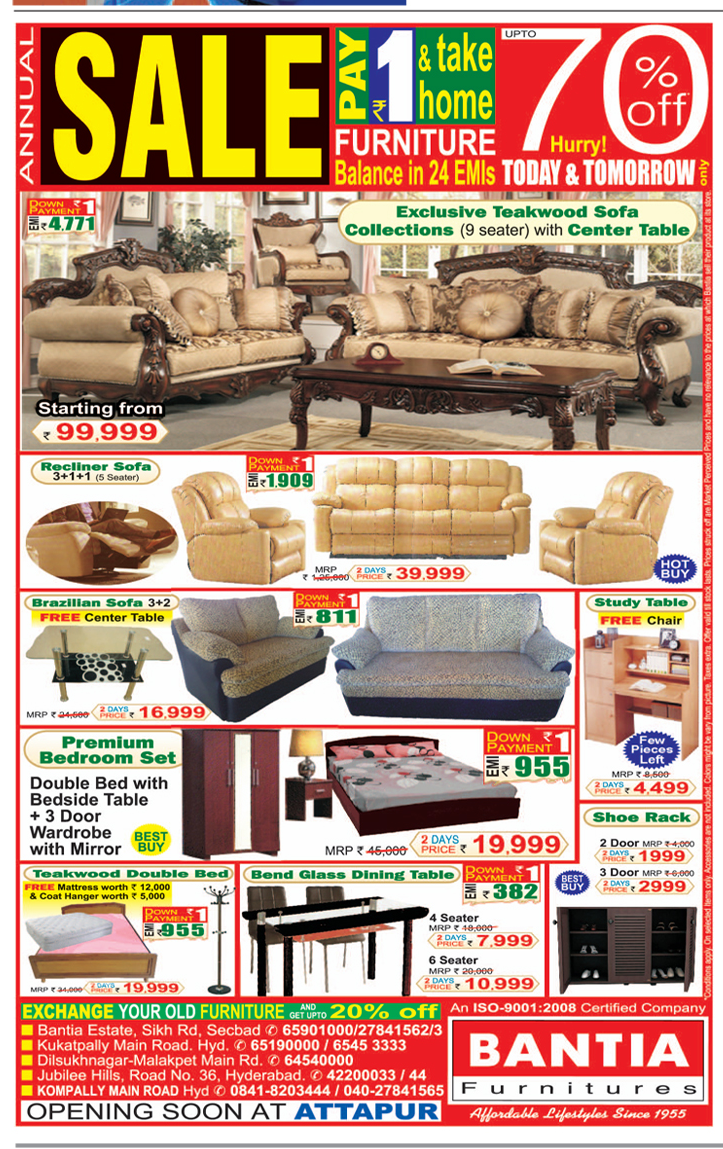 Best furniture deals in hyderabad