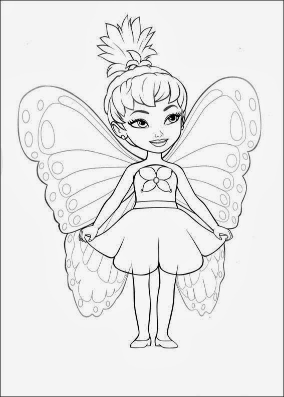 Little Barbie Coloring Pages : Little barbie maripossa coloring pages