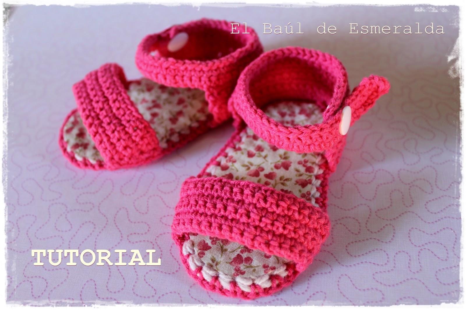 El baúl de Esmeralda ♥♥♥: TUTORIAL: Sandalias para bebé, tejidas ...