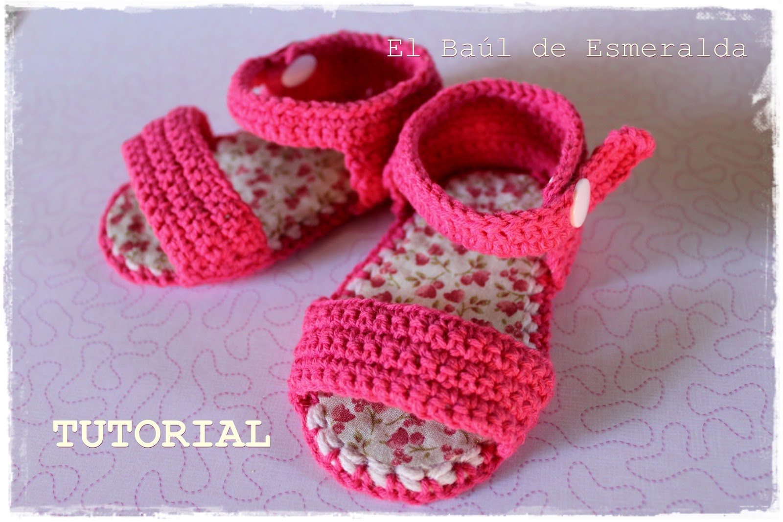 TUTORIAL Sandalias para bebé, tejidas a ganchillo