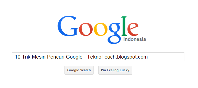 10 trik mesin pencari google