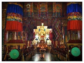 Benchen monastery gompa