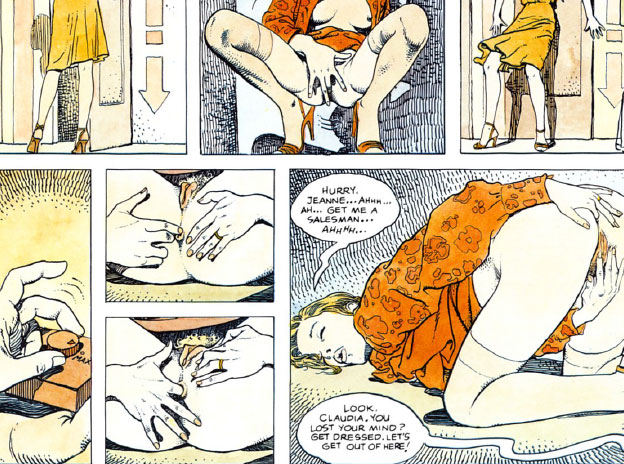 Excerpt from Milo Manara's original comic