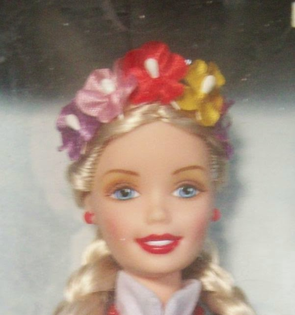 Mattel Polish Barbie 1998 face only