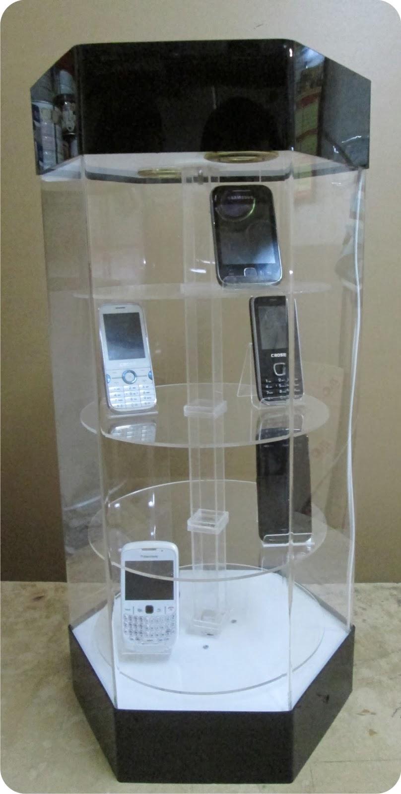 RAJA AKRILIK Specialist Acrylic Product Rak Display Putar
