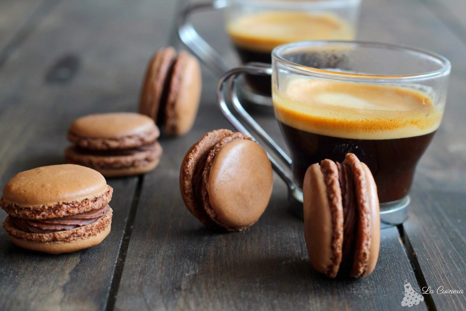 receta de macaron de chocolate