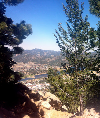 Aerial Tramway view of Olympus Dam on Lake Estes in Estes Park, Colorado #Colorado #ColorfulColorado www.thebrighterwriter.blogspot.com