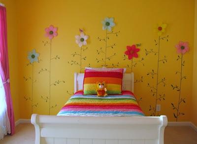 dormitorio niña amarillo