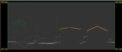 Nube de puntos obtenida por un vuelo  LIDAR