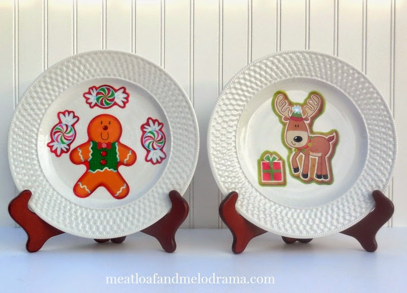 gingerbread man peppermints and reindeer on white plates