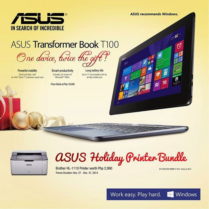 ASUS Holiday Printer Bundle