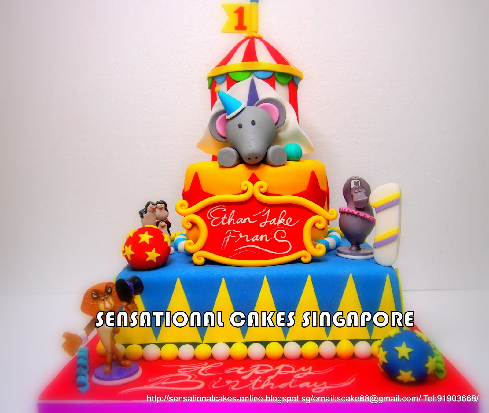 The Sensational Cakes CIRCUS MASTERPIECE MADAGASCAR 3 CIRCUS CAKE