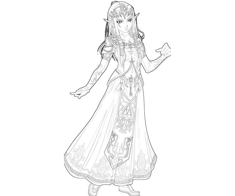 another princess zelda coloring pages - Zelda Coloring Pages