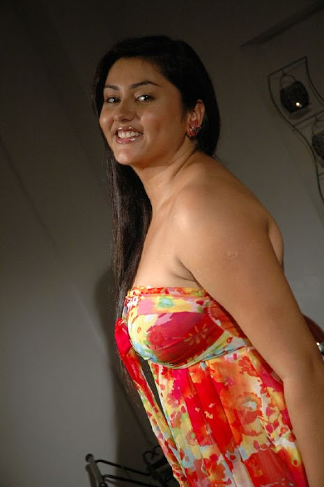namitha in strapless gown latest photos