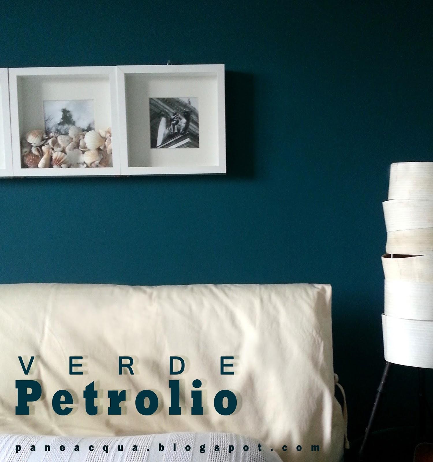 Pareti verde petrolio gi42 regardsdefemmes - Parete colorata camera da letto ...
