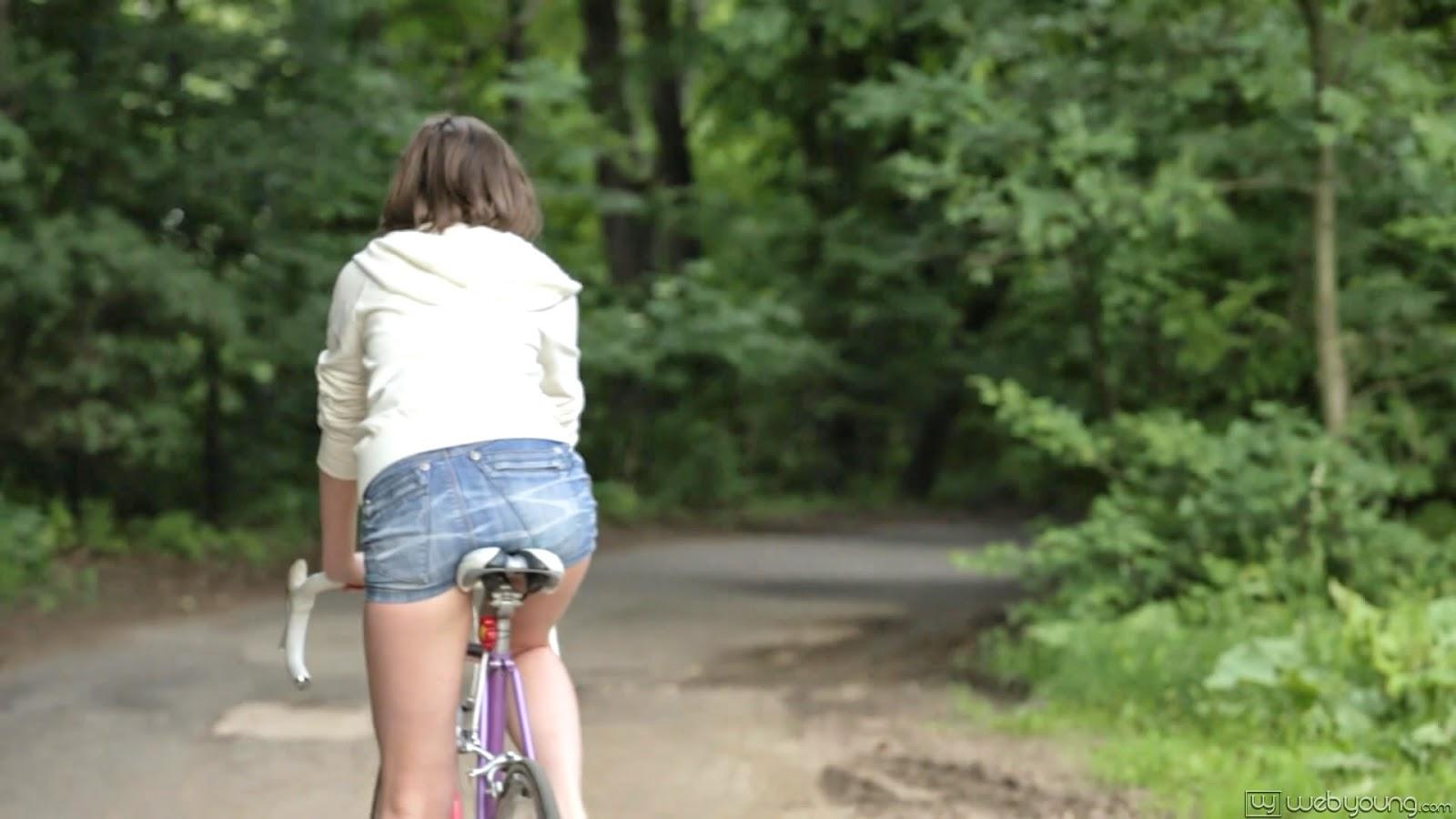 Real female orgasm while riding dildo