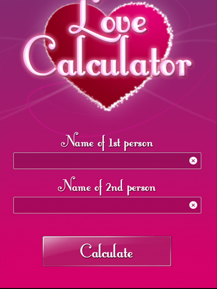KNOW YOUR LOVE PERCENTAGE