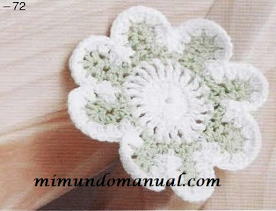 Patrones para tejer flores a crochet