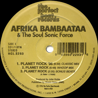 Afrika Bambaataa & The Soul Sonic Force – Planet Rock EP (Remixes) (Vinyl) (1996) (192 kbps)