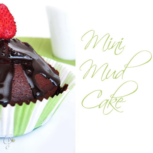 mini Mud Cake con glassa lucida al cioccolato