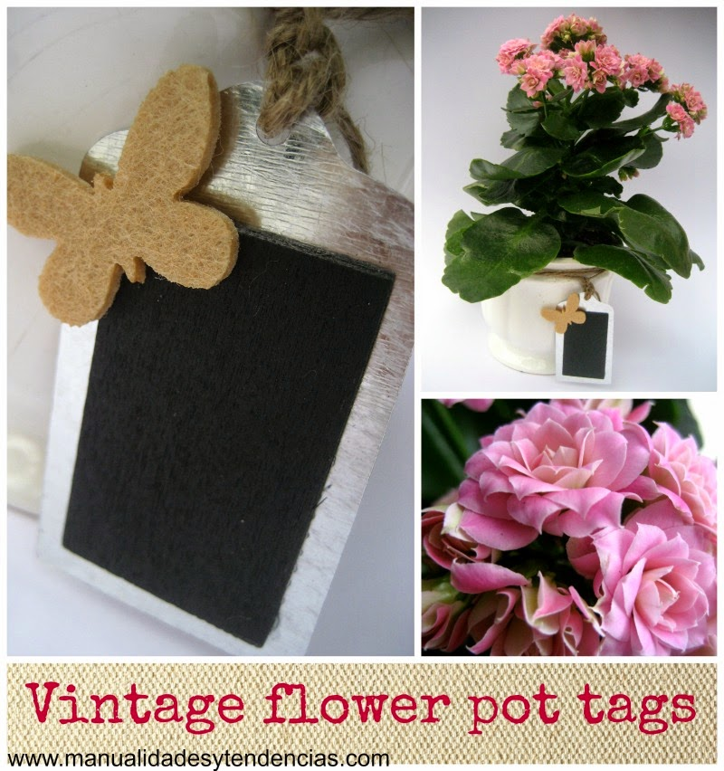 DIY Vintage flower pot tags