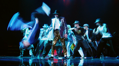 Michael Jackson's – This is it - Smooth Criminal rehearsals, dancer flipping on stage.