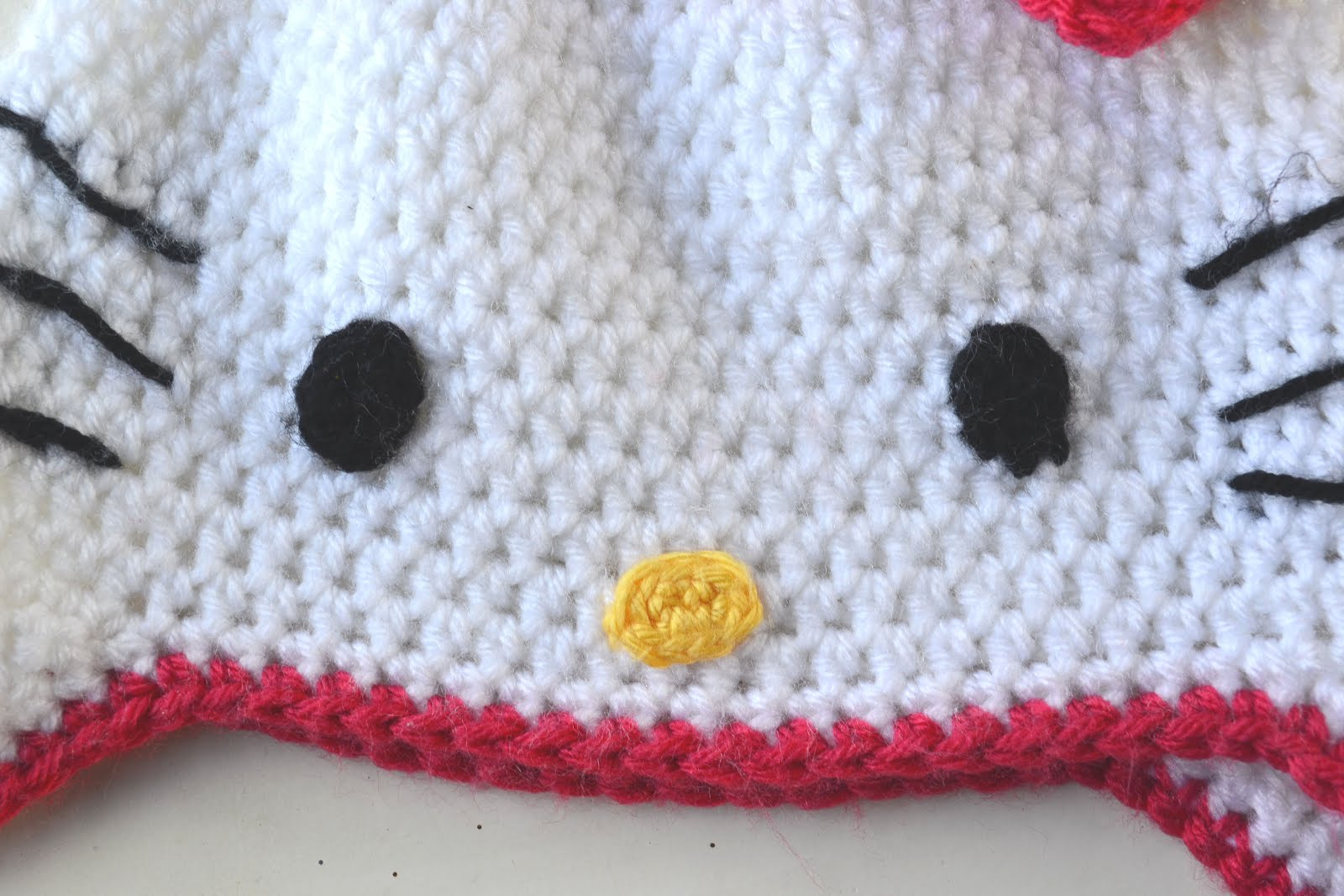 Free Pattern Crochet Hello Kitty : Crochet in Color: Hello Kitty Hat Pattern