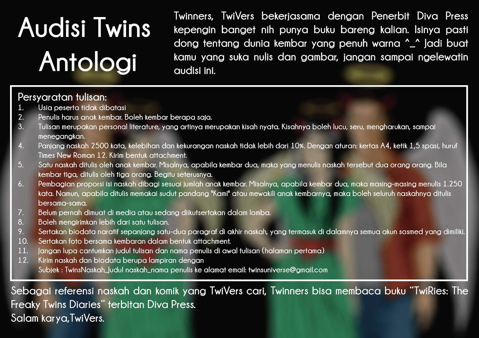 Audisi Buku Antologi Anak Kembar
