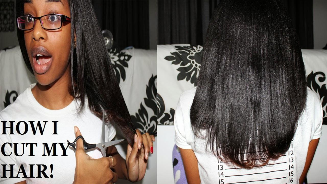 How I Trim Cut My Hair Journey To Waist Length