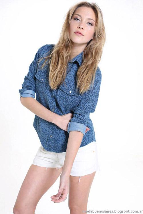 Riffle Jeans primavera verano 2014 camisas.
