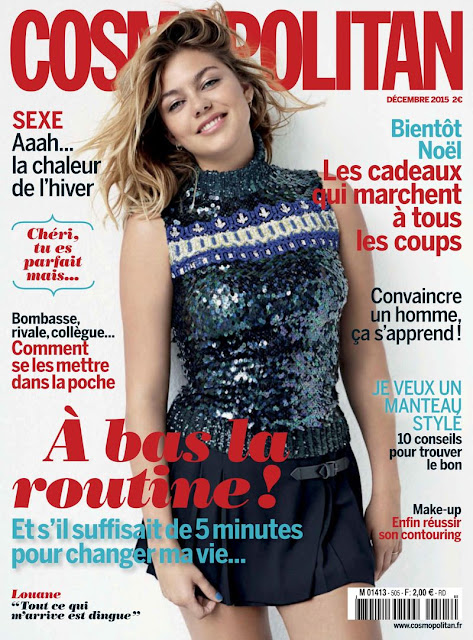 Actress, Singer @ Louane Emera - Cosmopolitan France, December 2015