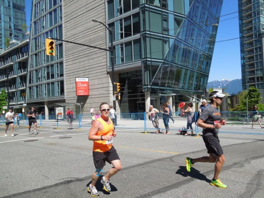 Racing for Finish Line Vancouver Marathon