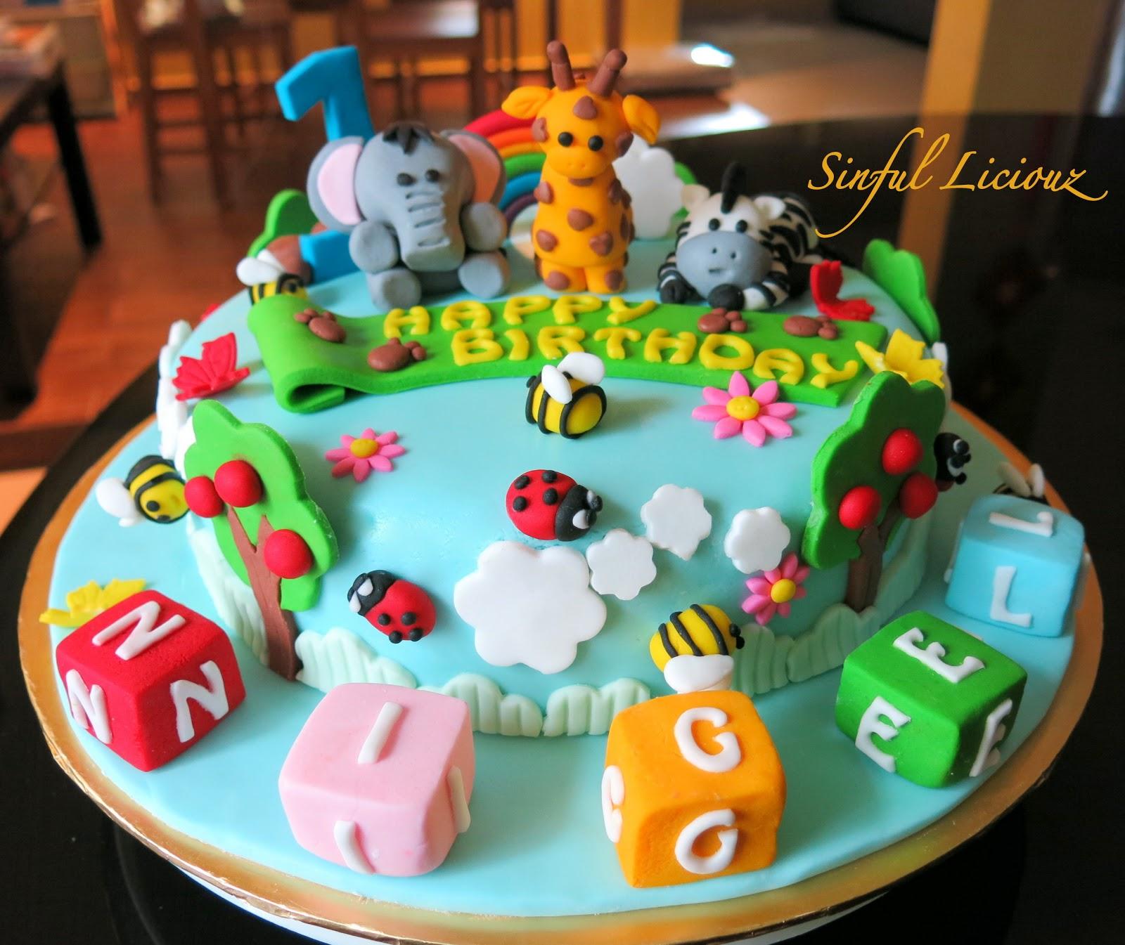 Sinful Liciouz Animal Theme Design Cake