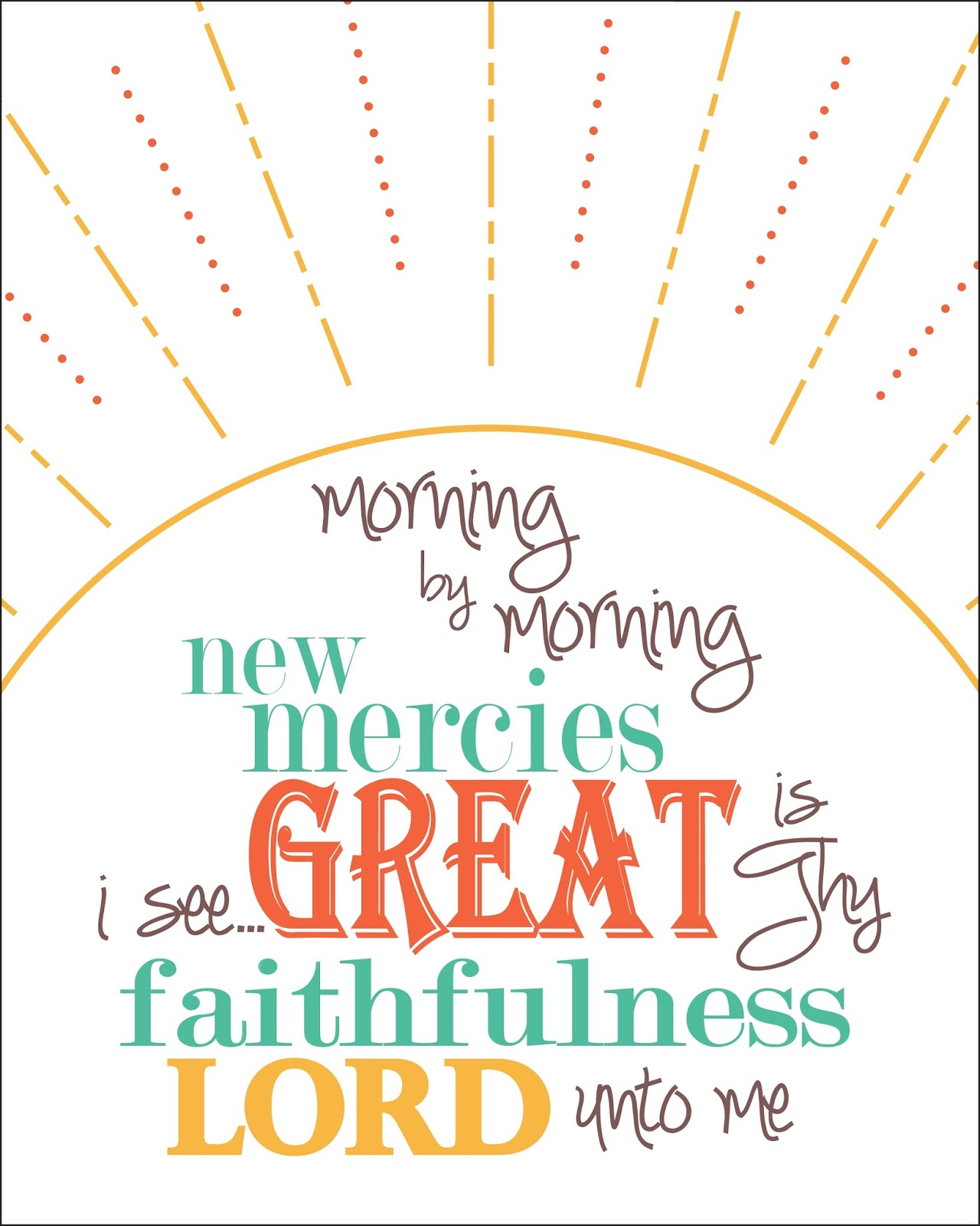 To bring Him glory...: Printed Joy